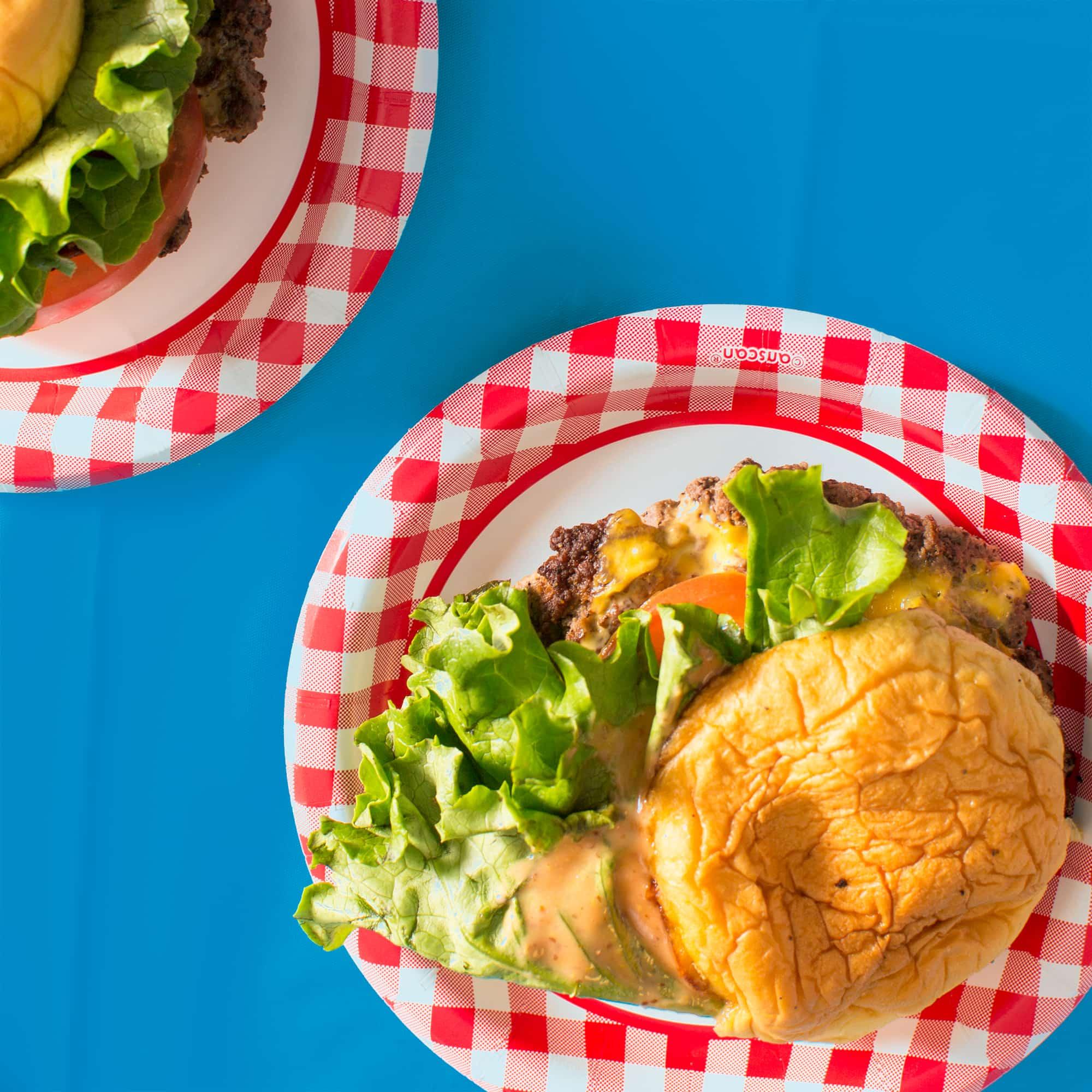 Two burgers from Atlanta Burger Week.