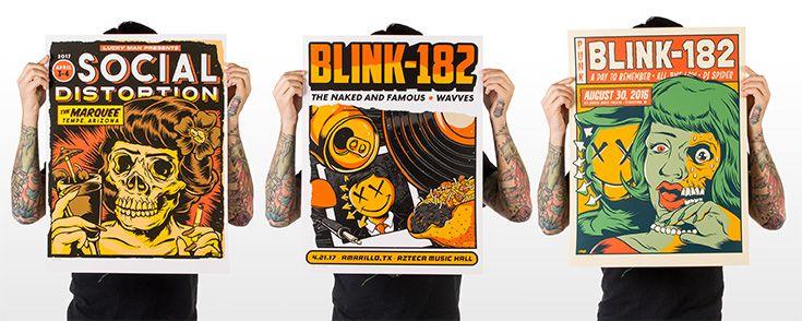 Band posters designed by Ben Lande.