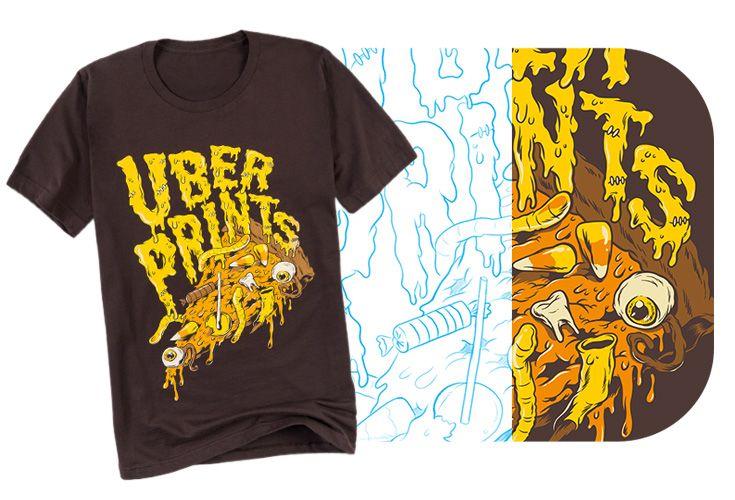 UberPrints Halloween themed t-shirt design.