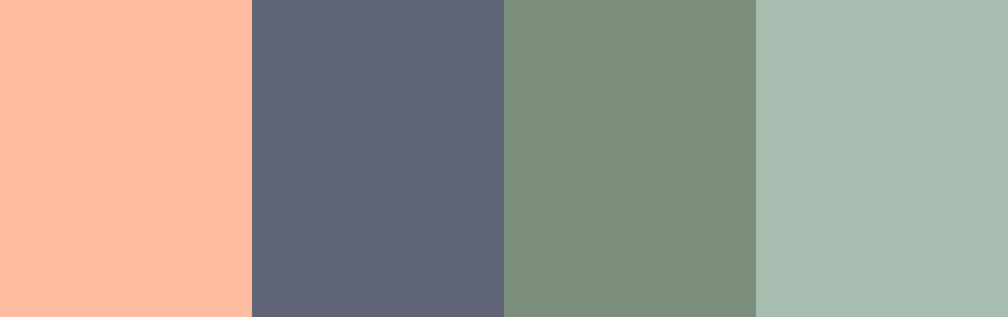 The riverside color pallet displayed as a four color graphic.