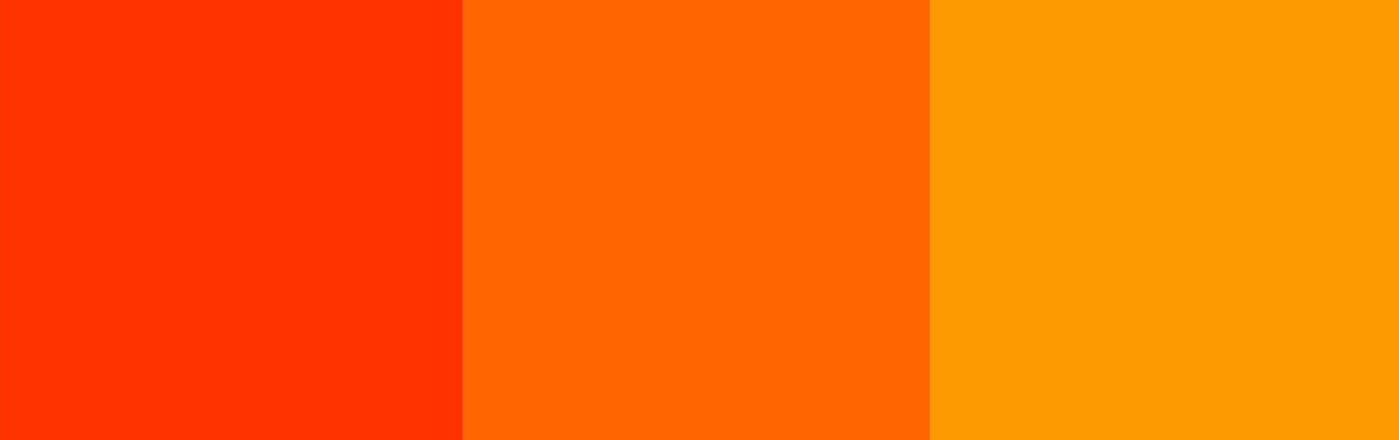 Three analogous warm colors.