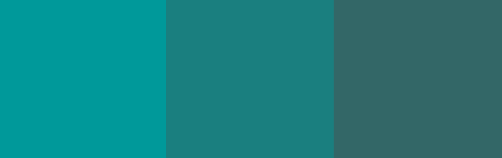 Three monochromatic teal colors.