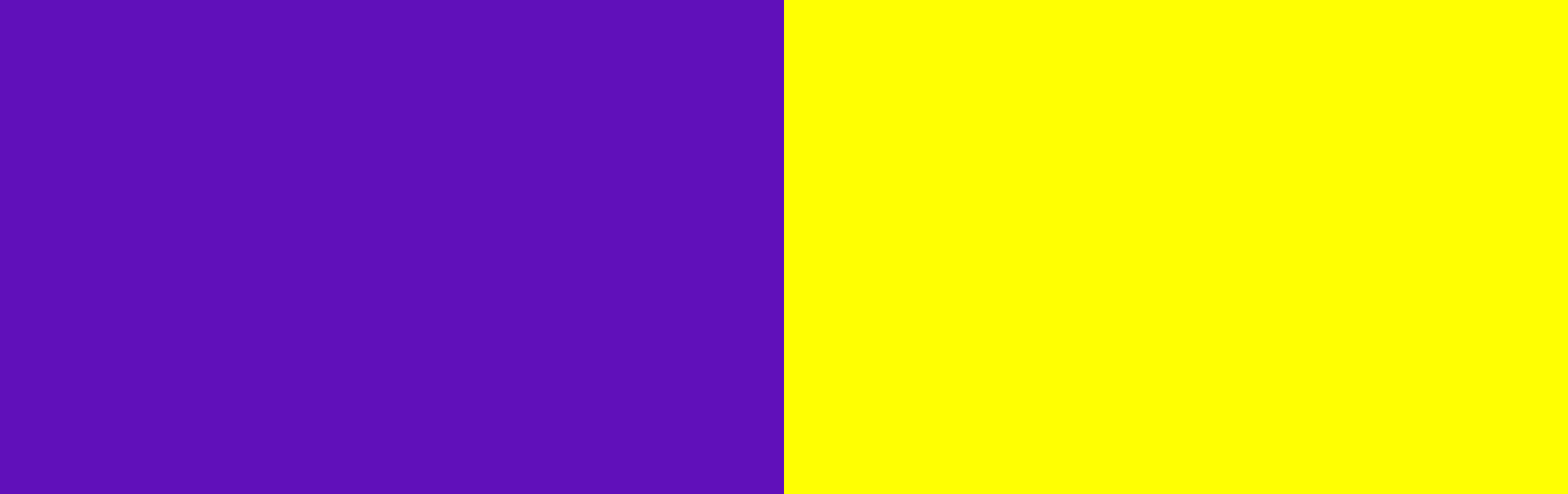 Demonstrating complementary colors with purple and yellow.