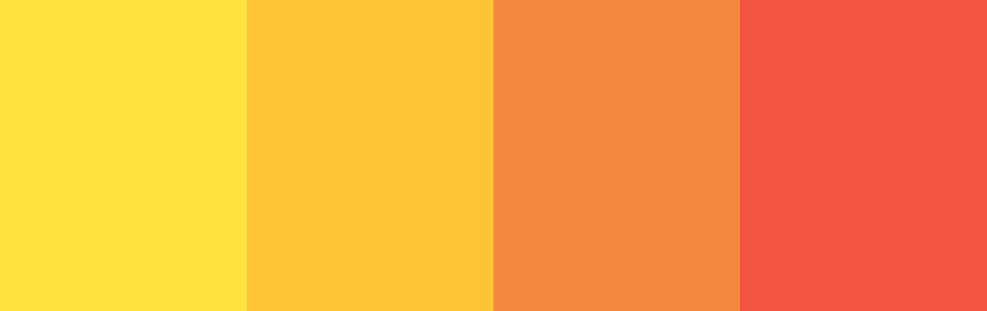 Four warm colors.