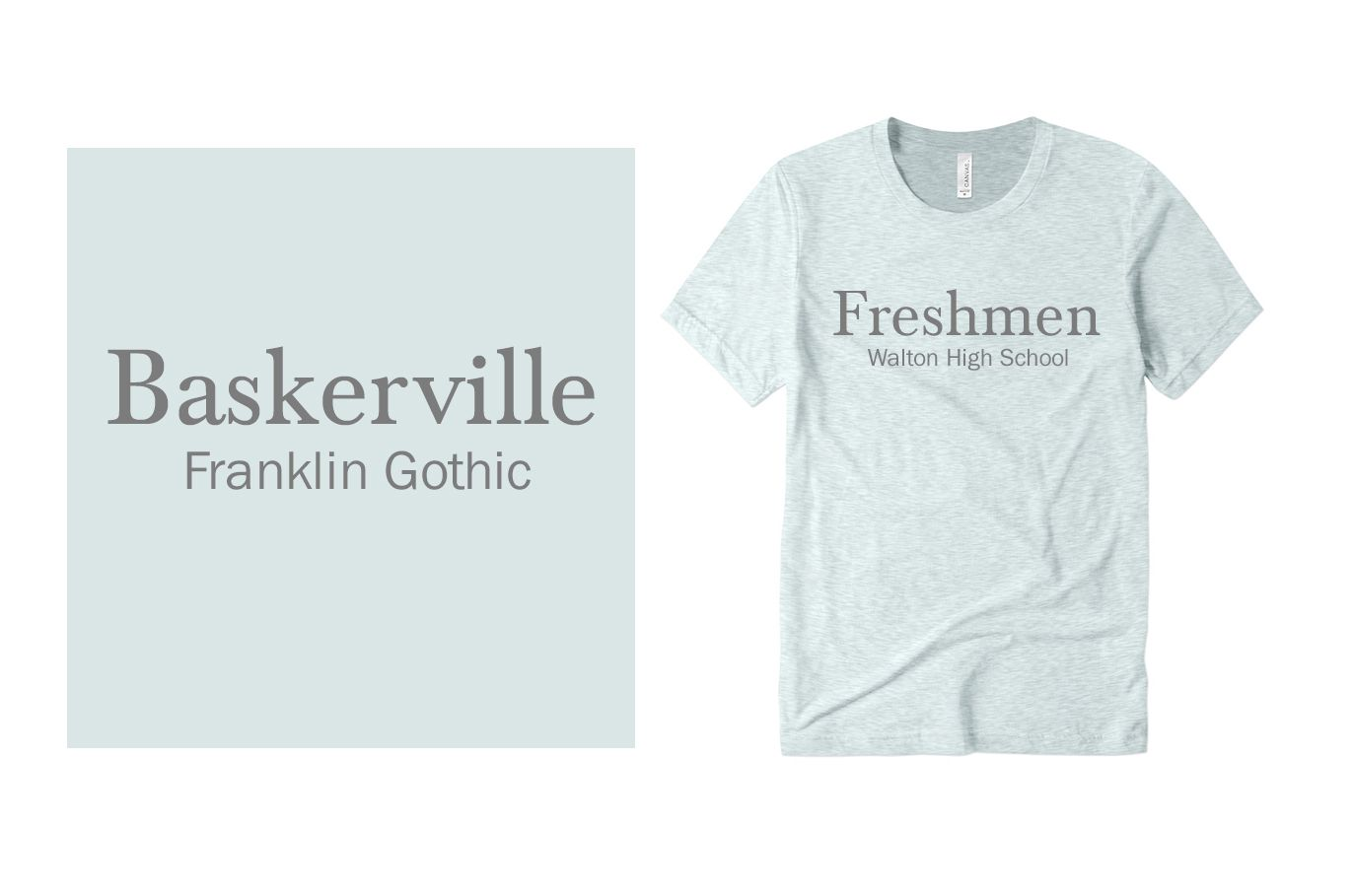 Example font pairing of Baskerville and Franklin Gothic.