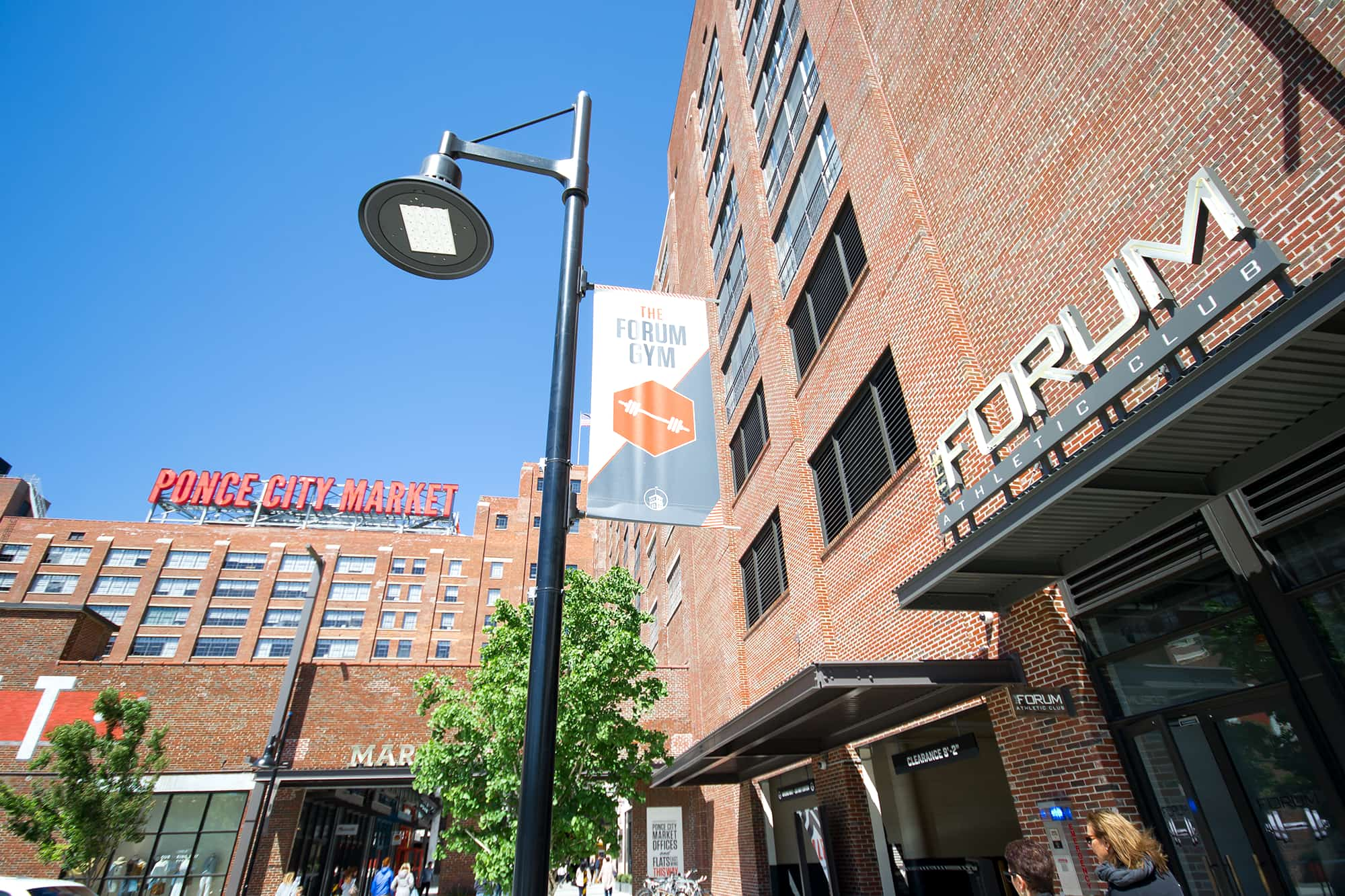 An exterior view of the Ponce City Market Forum location.