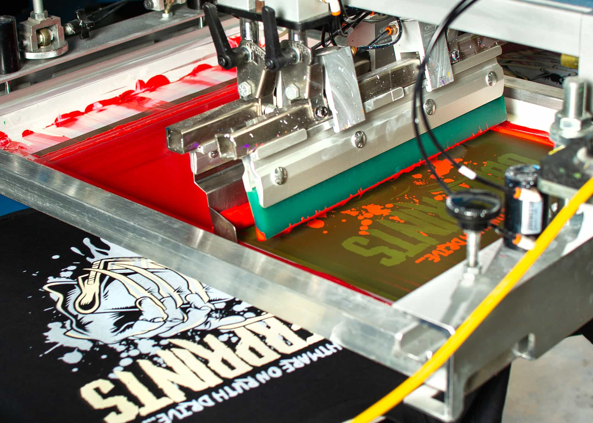 Printing the third color of the UberPrints 2019 Halloween design.