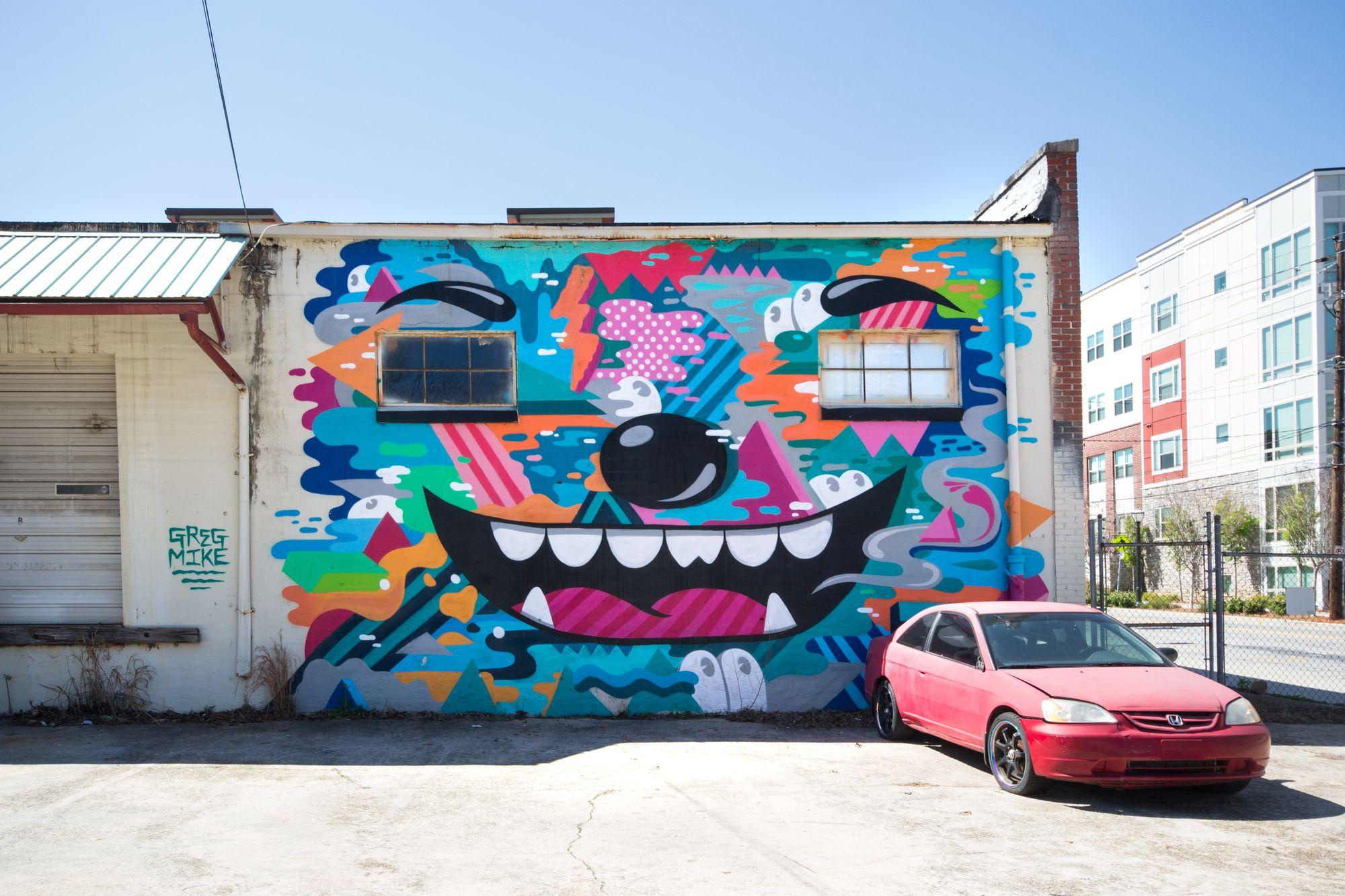 A second Greg Mike mural near Krog Street Market.