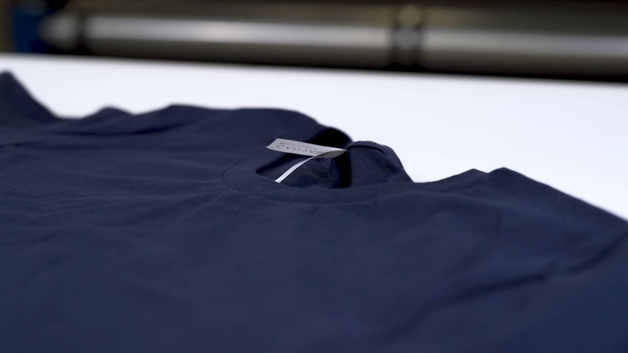 A t-shirt material detail shot.