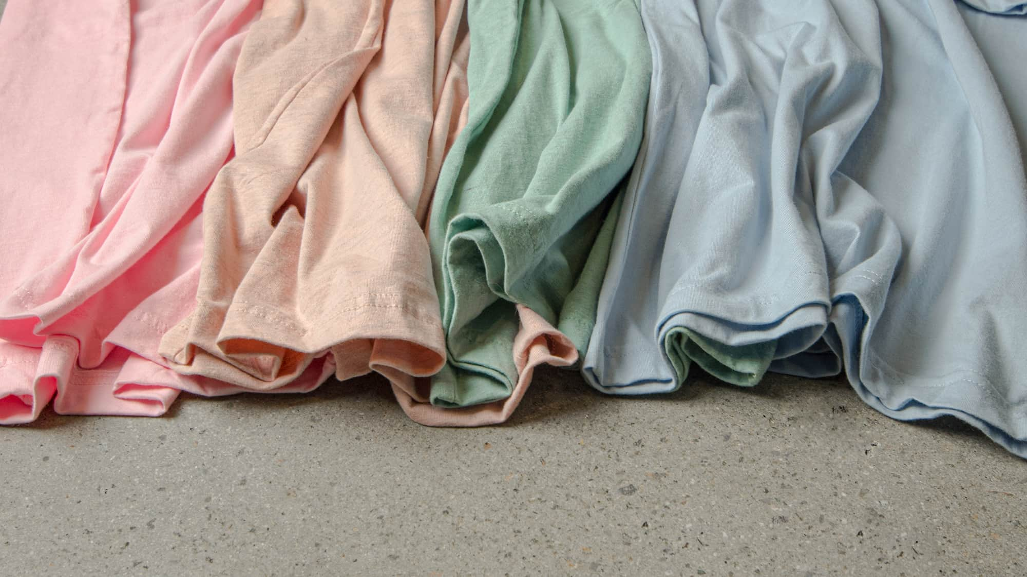 The pastel pallet made with corresponding t-shirt fabrics.