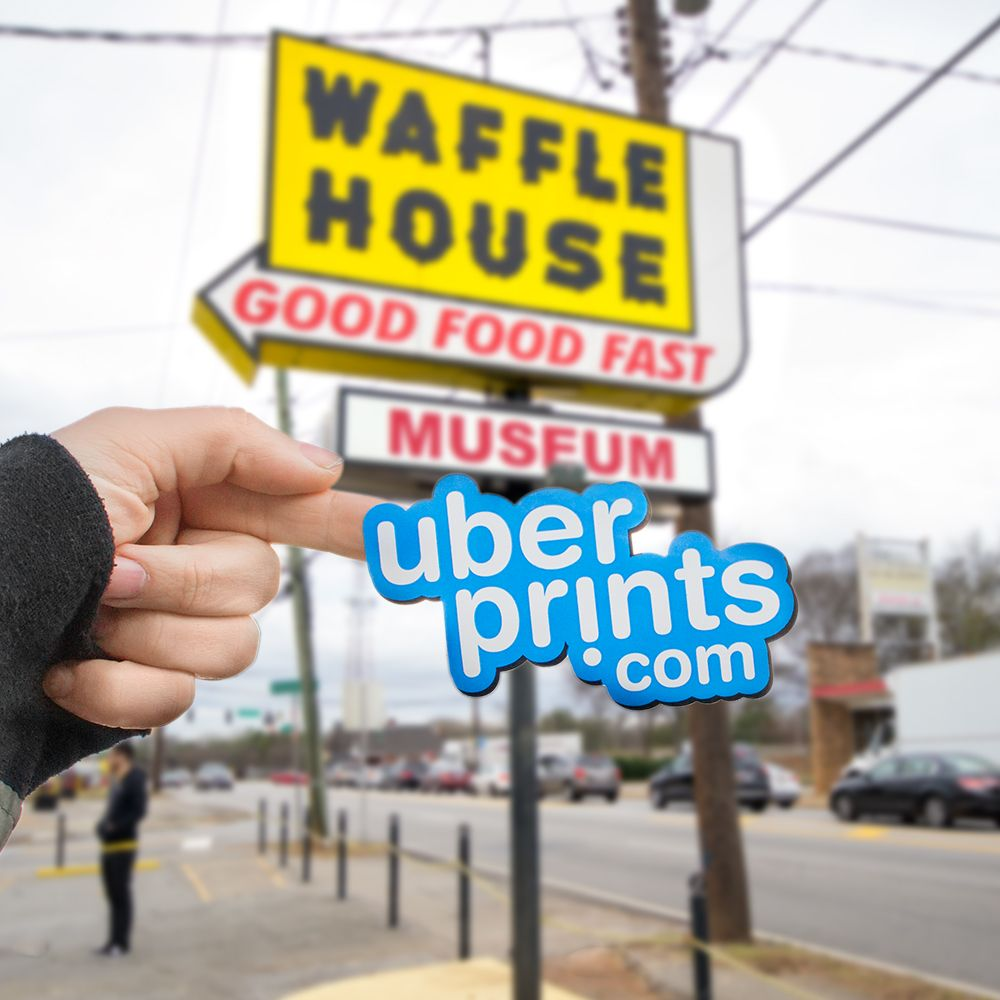 The Waffle House logo displayed with UberPrints.