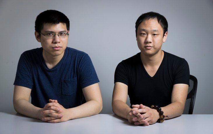 The two founders of Cubicle.us Phil Yu and James Chang