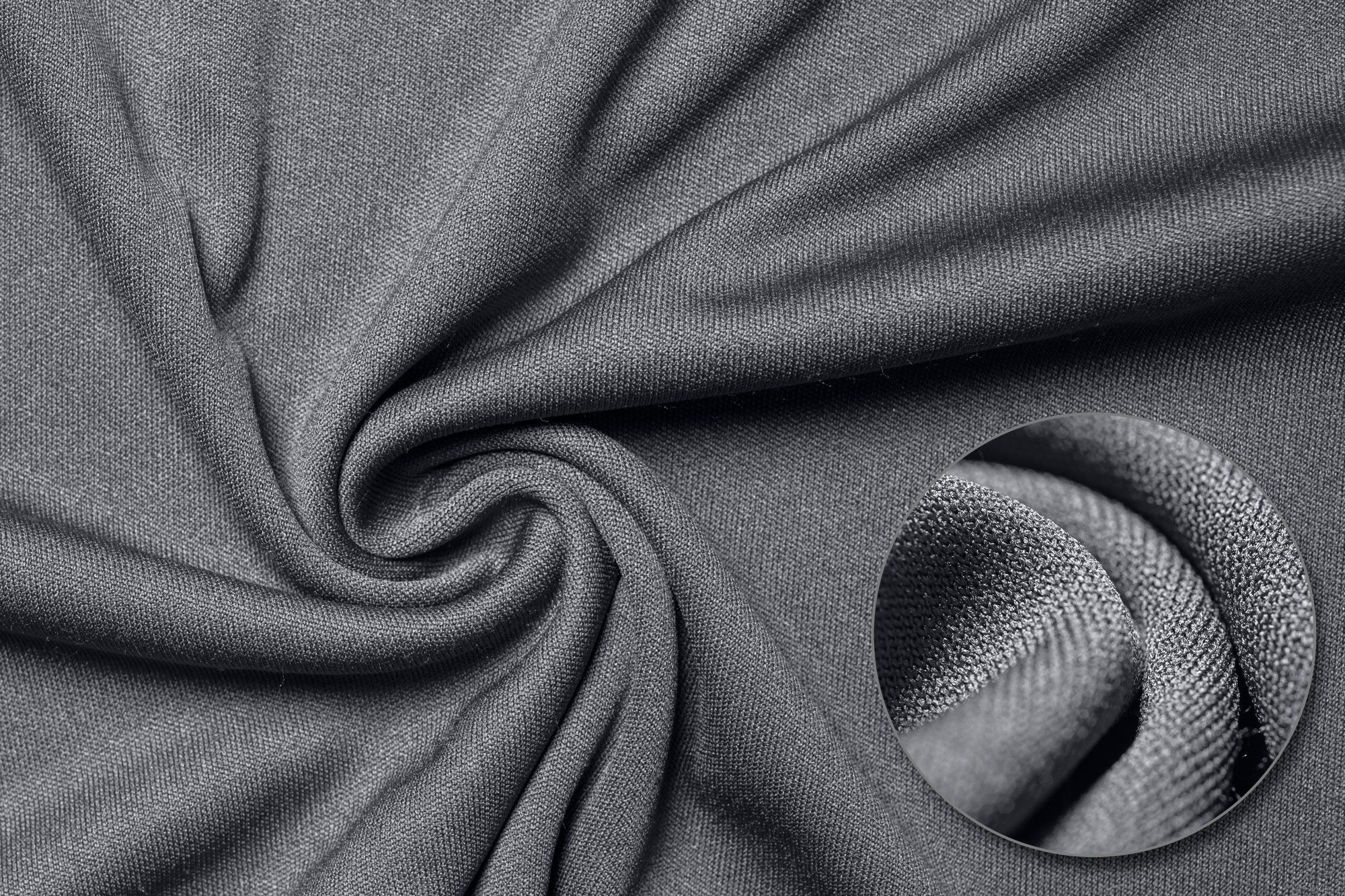 A detail shot of polyester fabric.