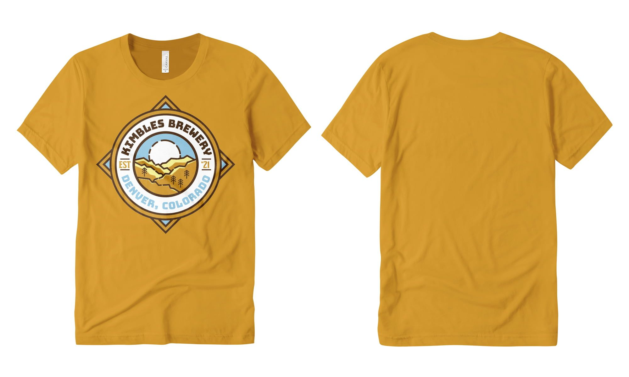 Example of t-shirt design with full front print.