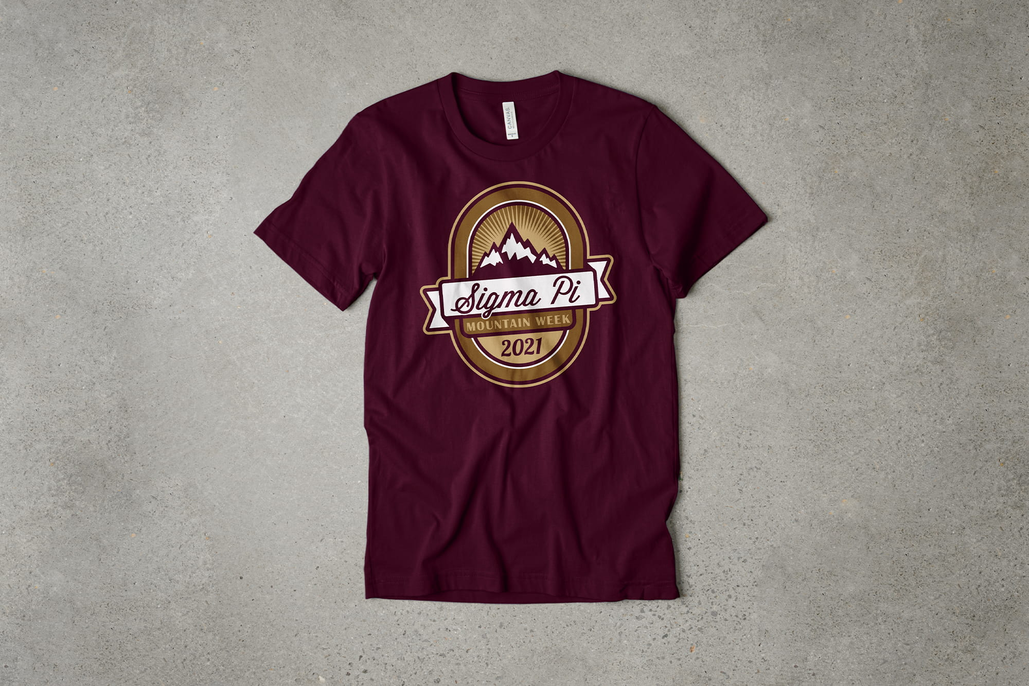 Example of using the t-shirt color as a color in your design.