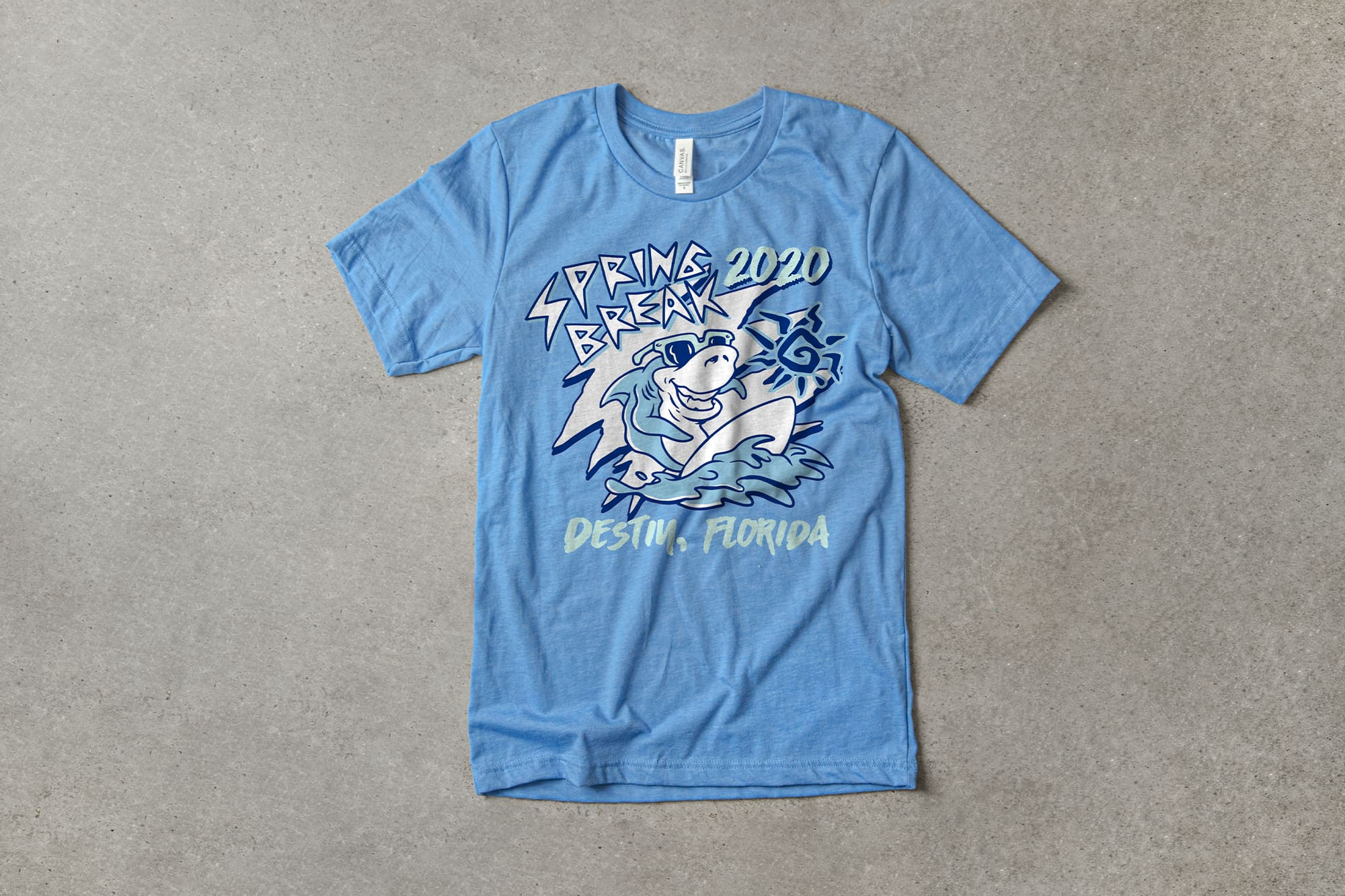 Example of t-shirt design using monochromatic colors.