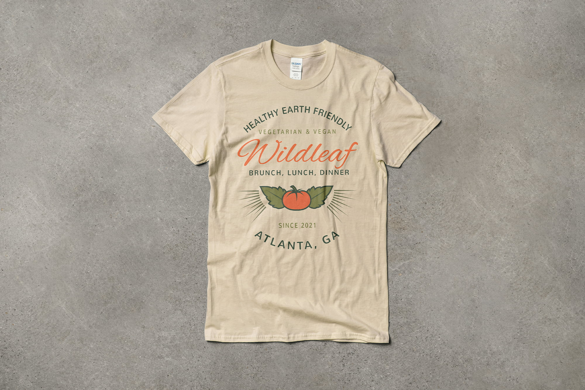 Example of using typography in your t-shirt design.