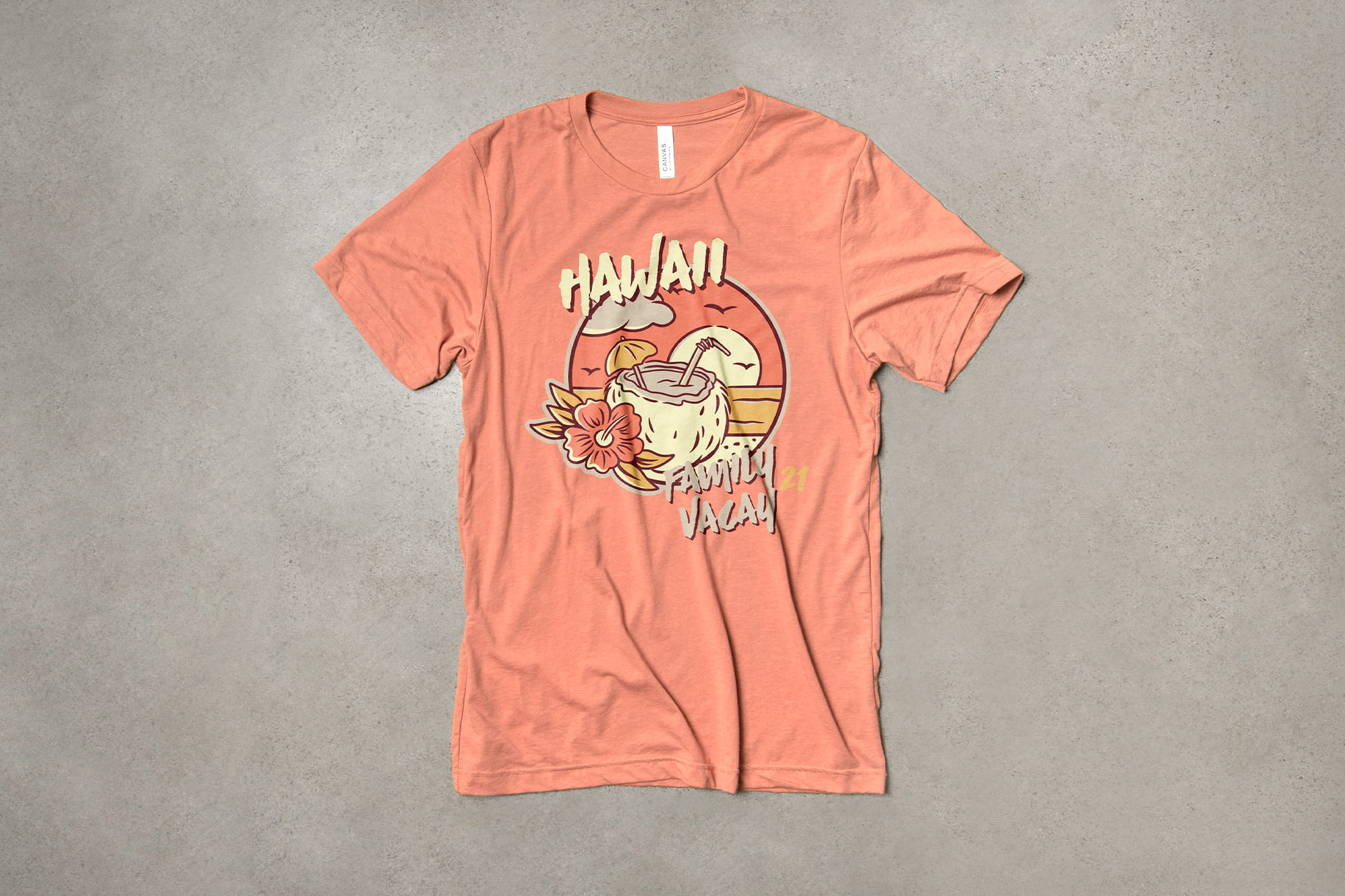 Example of warm t-shirt design.