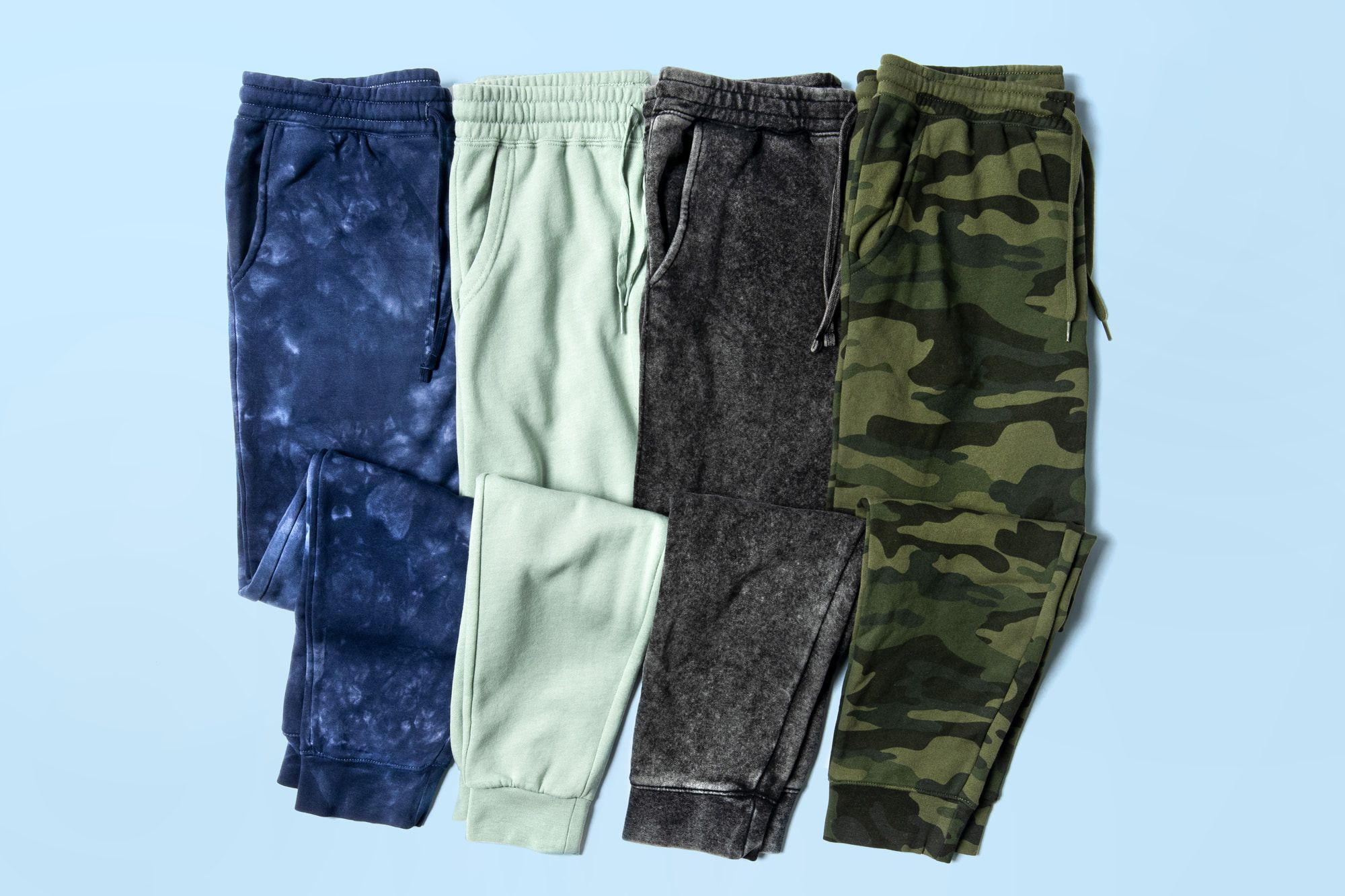 Flatlay image showing example of cuffed sweatpants.