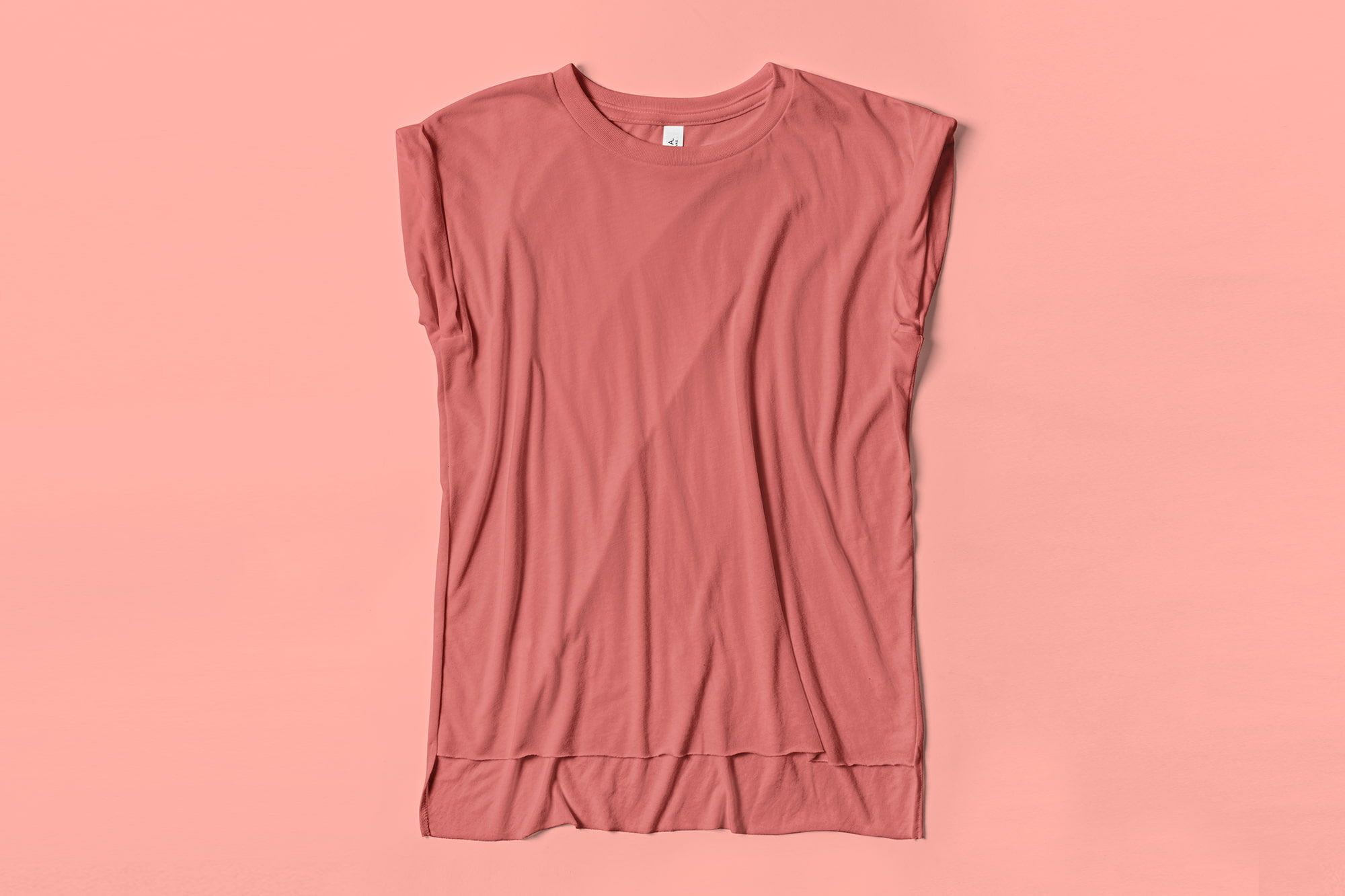 Flatlay image of Rolled Cuff Muscle Tee.
