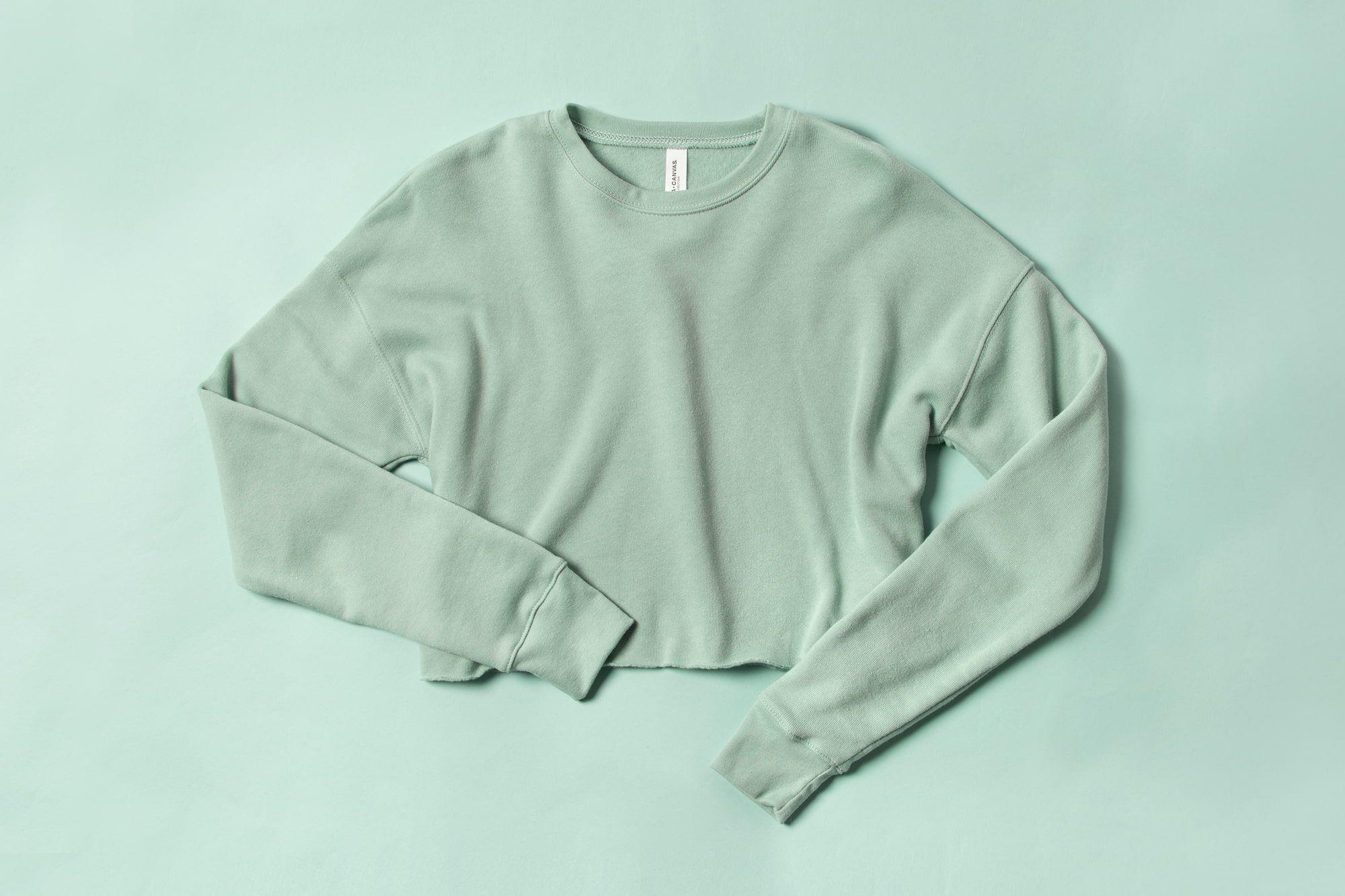 Flatlay showing trend for drop shoulder hoodie.