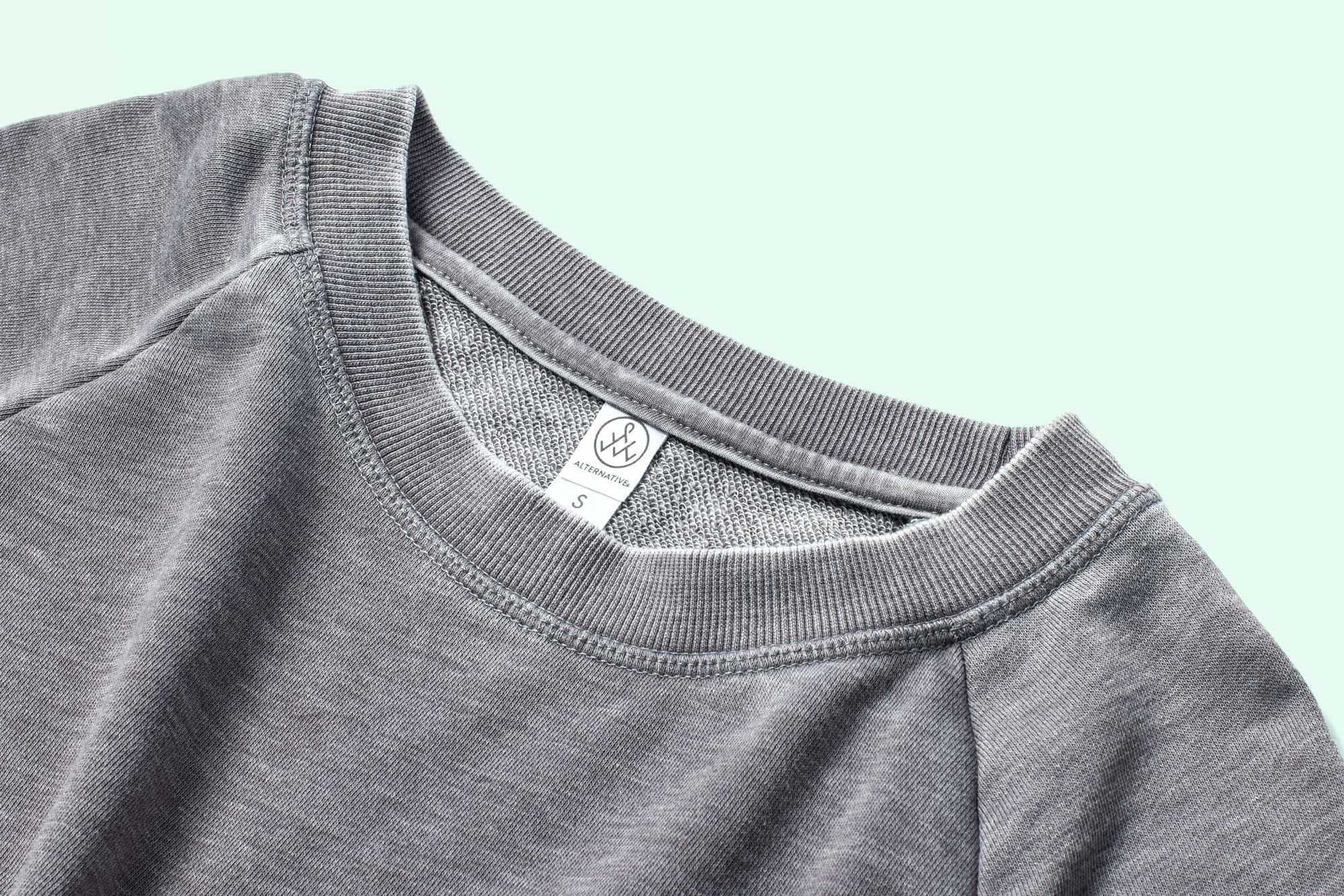 Close up of Ladies Burnout Sweatshirt