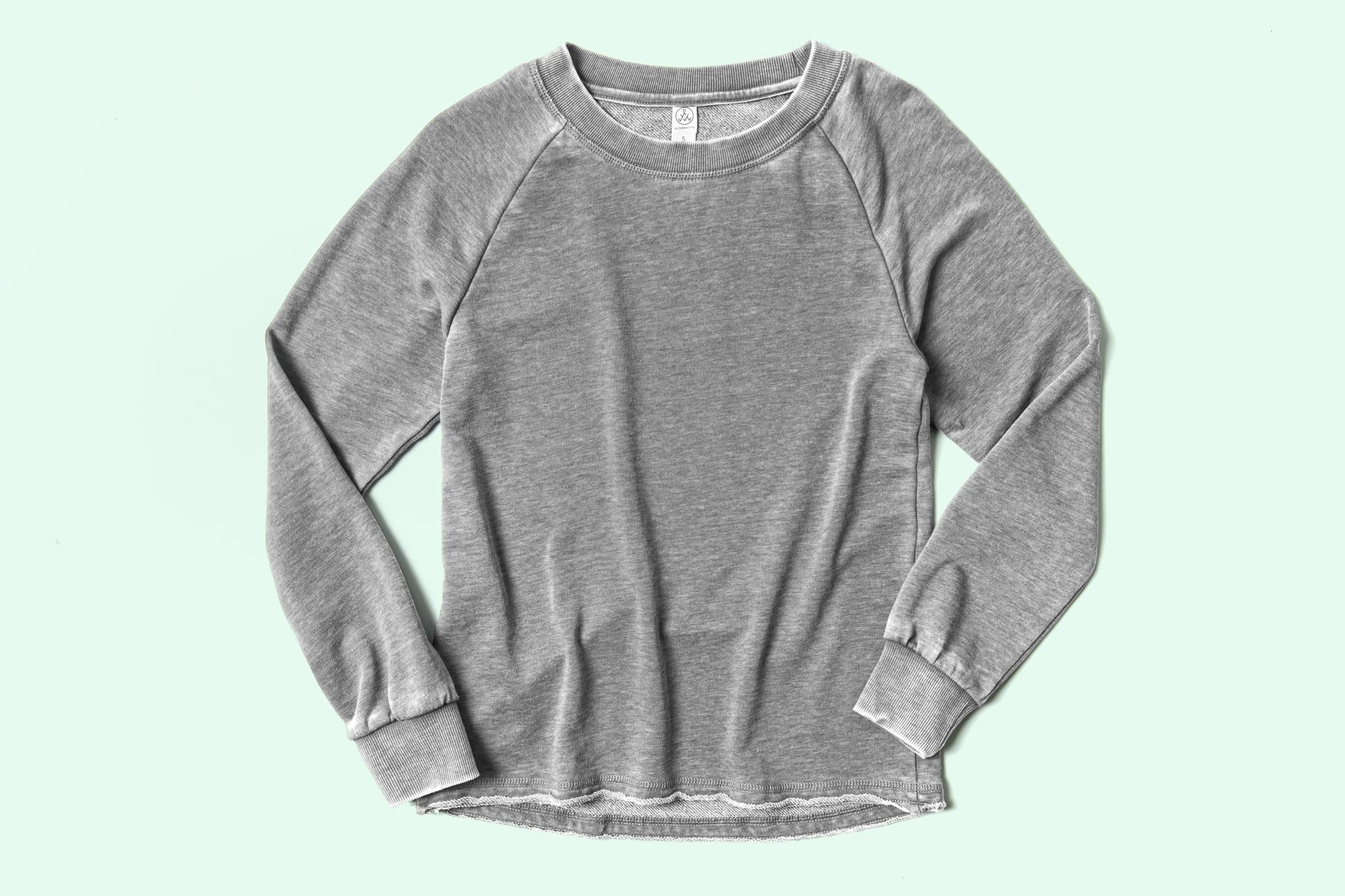 Image of the Ladies Burnout Sweatshirt.