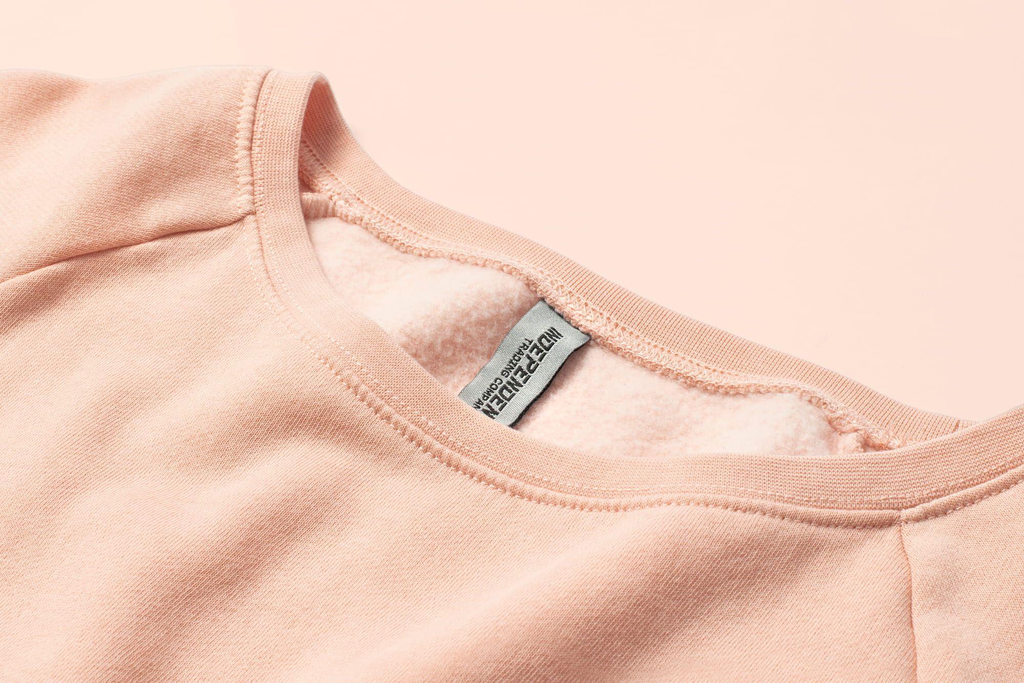 Close up shot of ladies Wave Wash Fleece Sweatshirt.