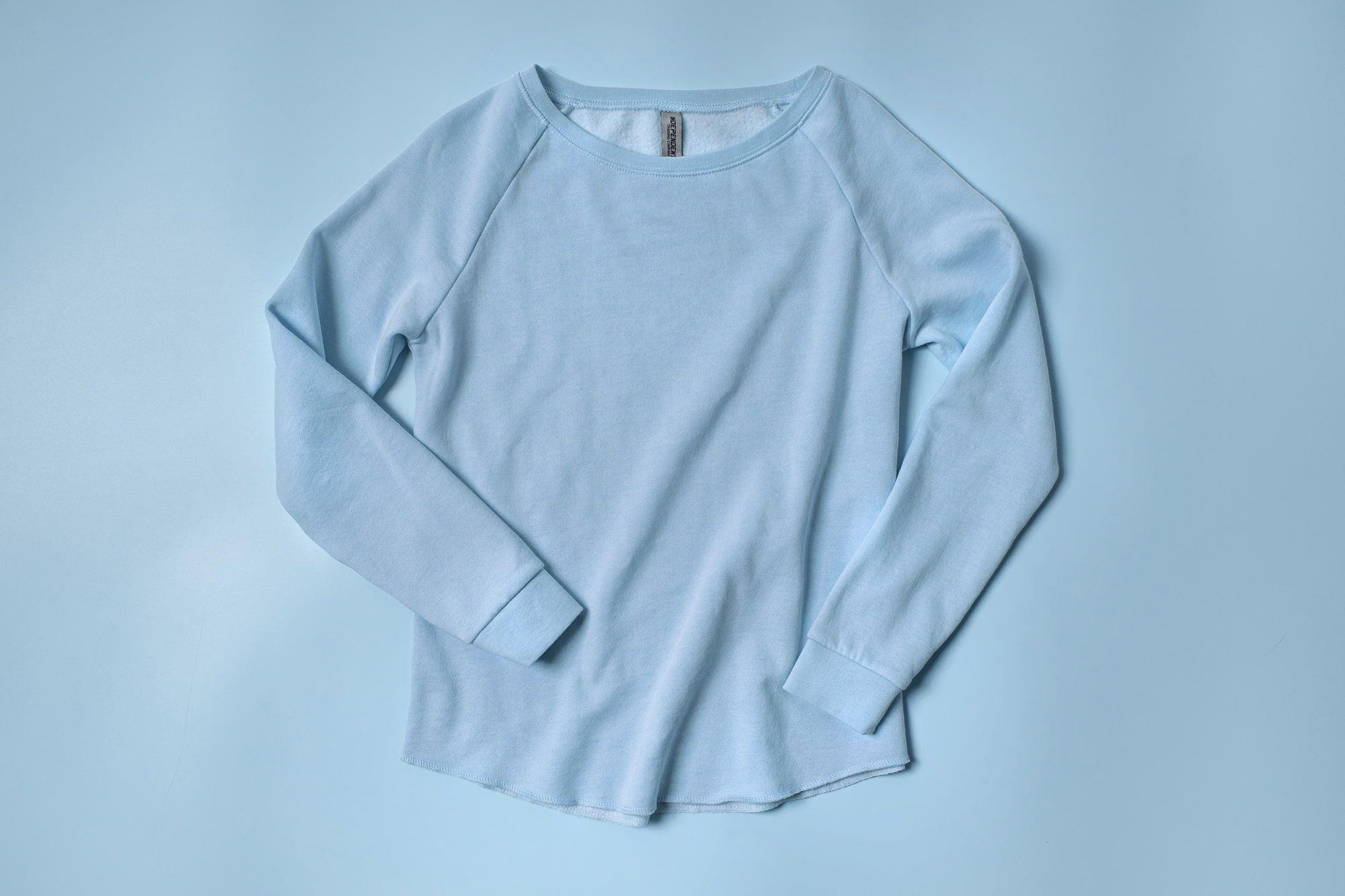 Flatlay of Ladies Wave Wash Sweatshirt.