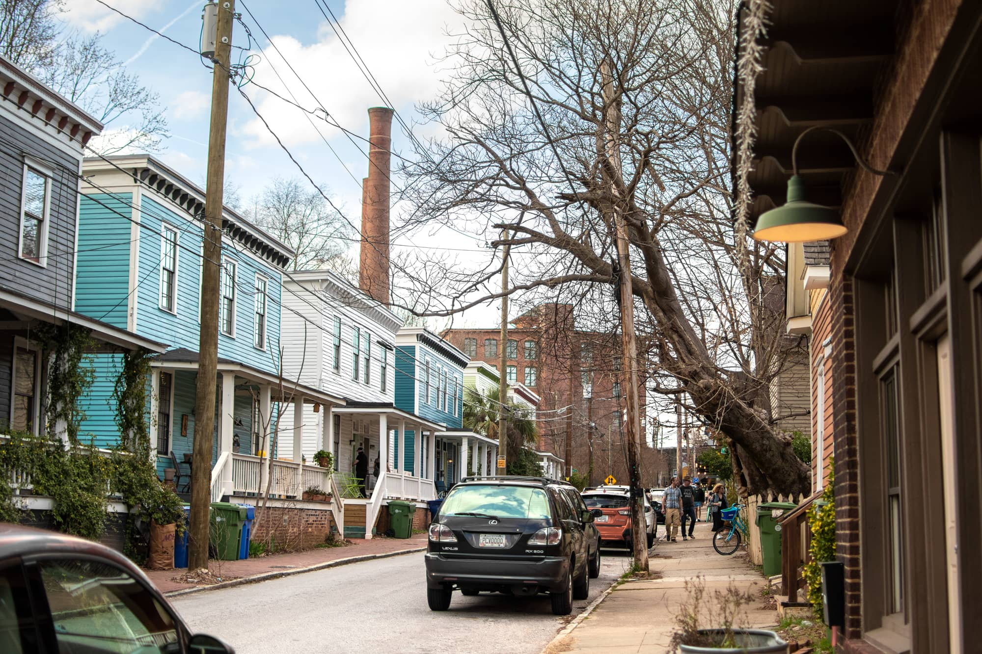 Photo of streets of Cabbagetown.
