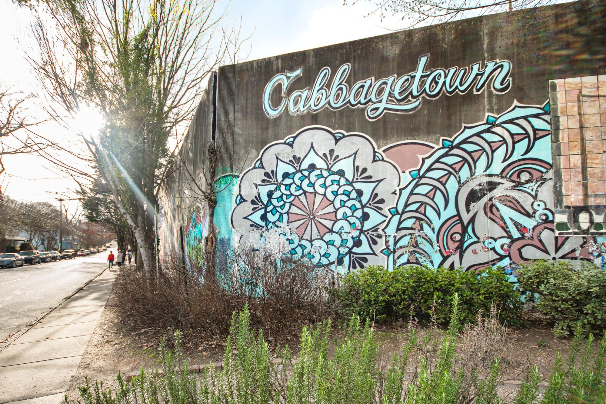 Photo of Cabbagetown wall art.