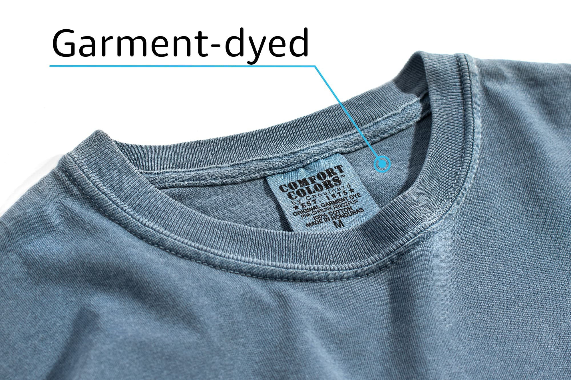 A Comfort Colors Pigment-Dyed T-Shirt demonstrating specialty processes.