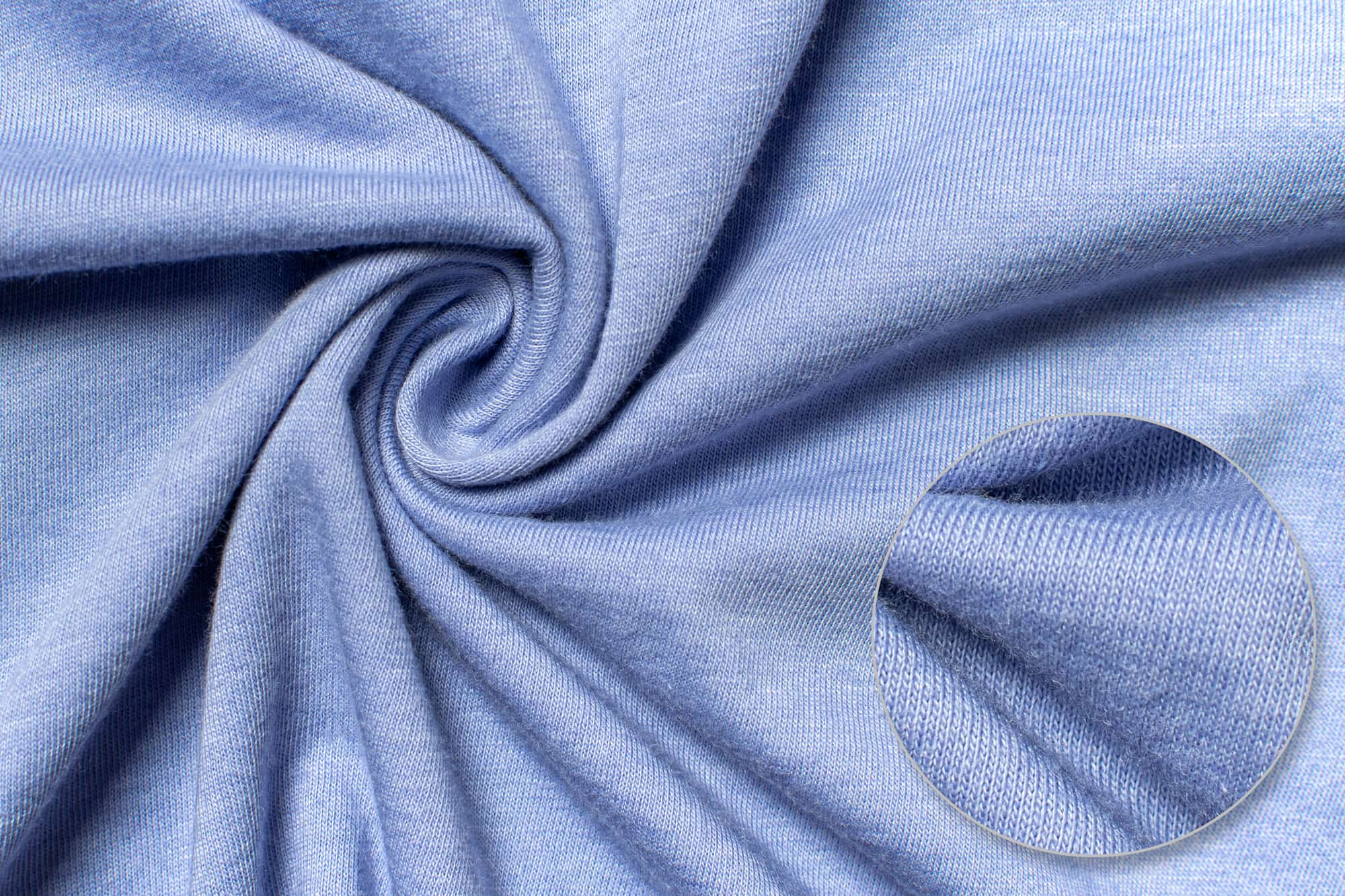 Fabric detail of the Bella Canvas Jersey T-Shirt.