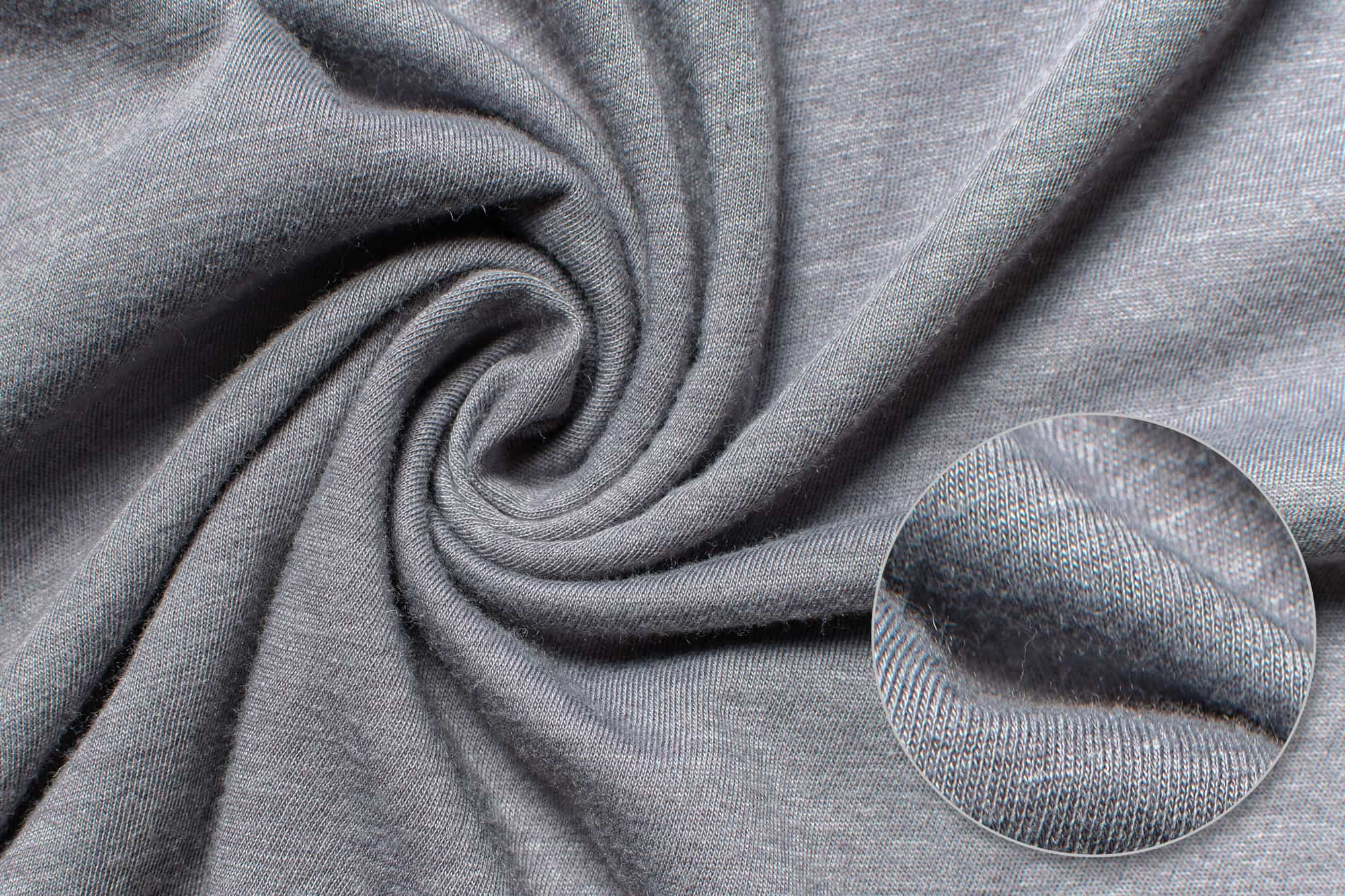 Fabric detail of the Bella Canvas Triblend Jersey T-Shirt.