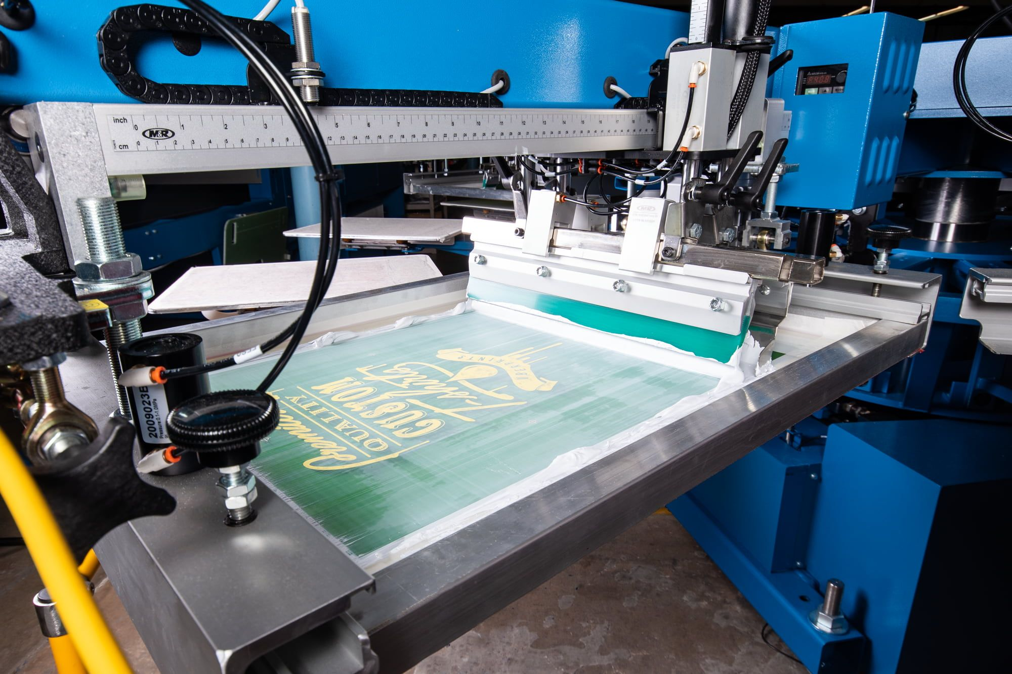 Image showing some of our screen printing equipment we use.